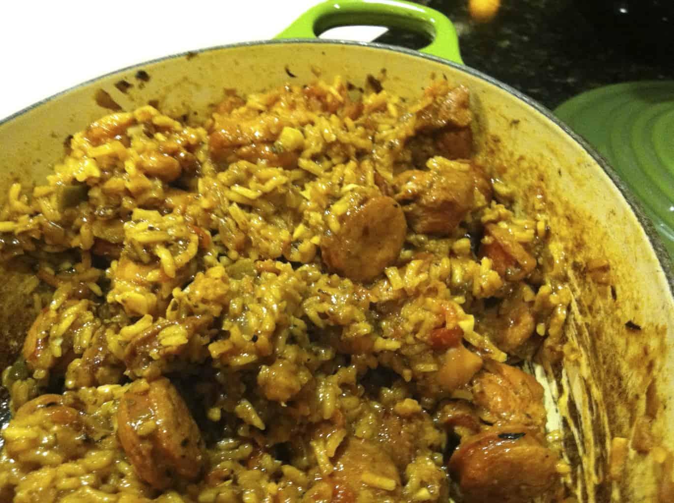 gluten-free chicken and andouille sausage