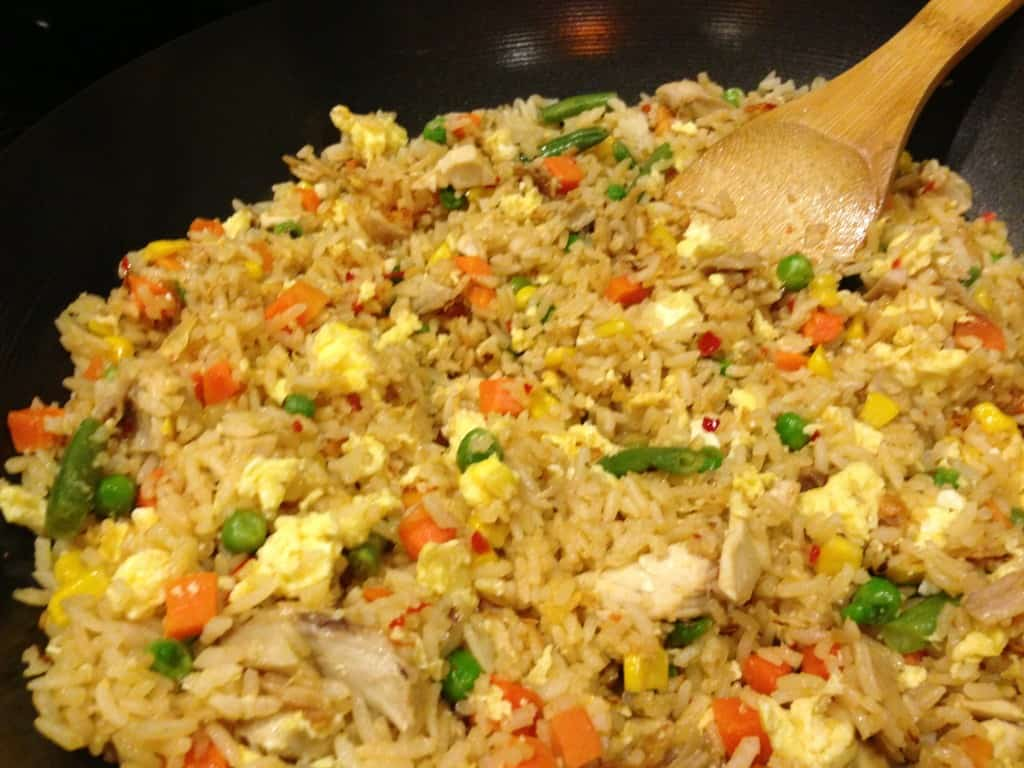 Chicken fried rice ready to serve