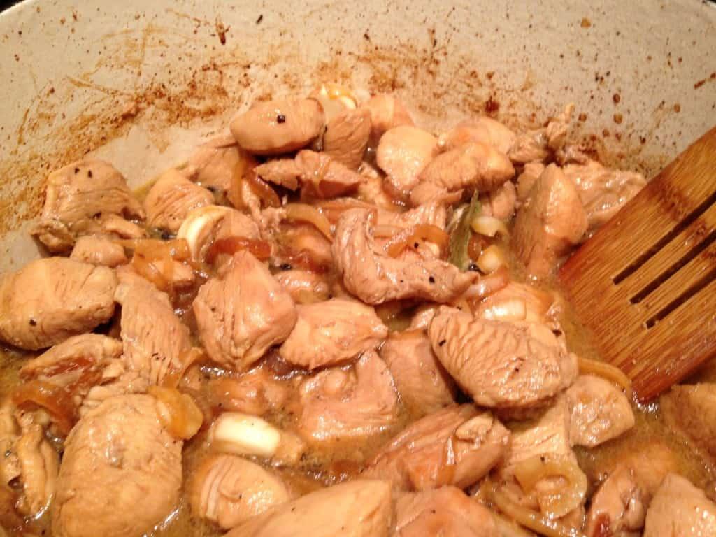 Chicken Adobo in Braising Liquid.