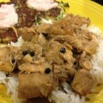 Chicken Adobo over Steamed Rice
