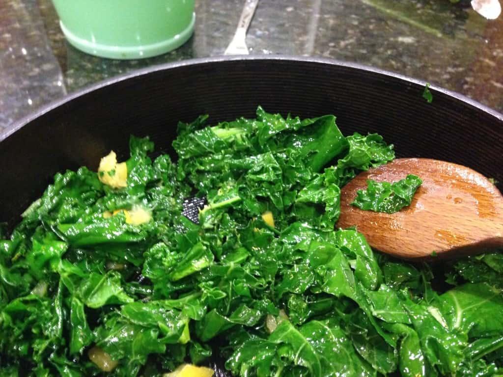 Wilted Kale Salad with Vinaigrette and Preserved Lemon