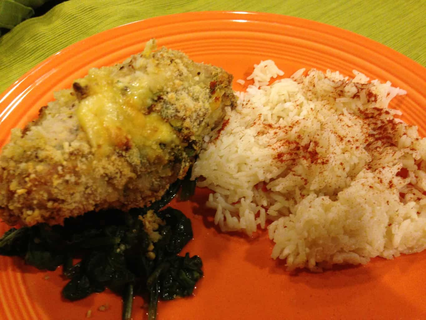 Gluten-Free Stuffed Pork Chops with Spinach and Gouda