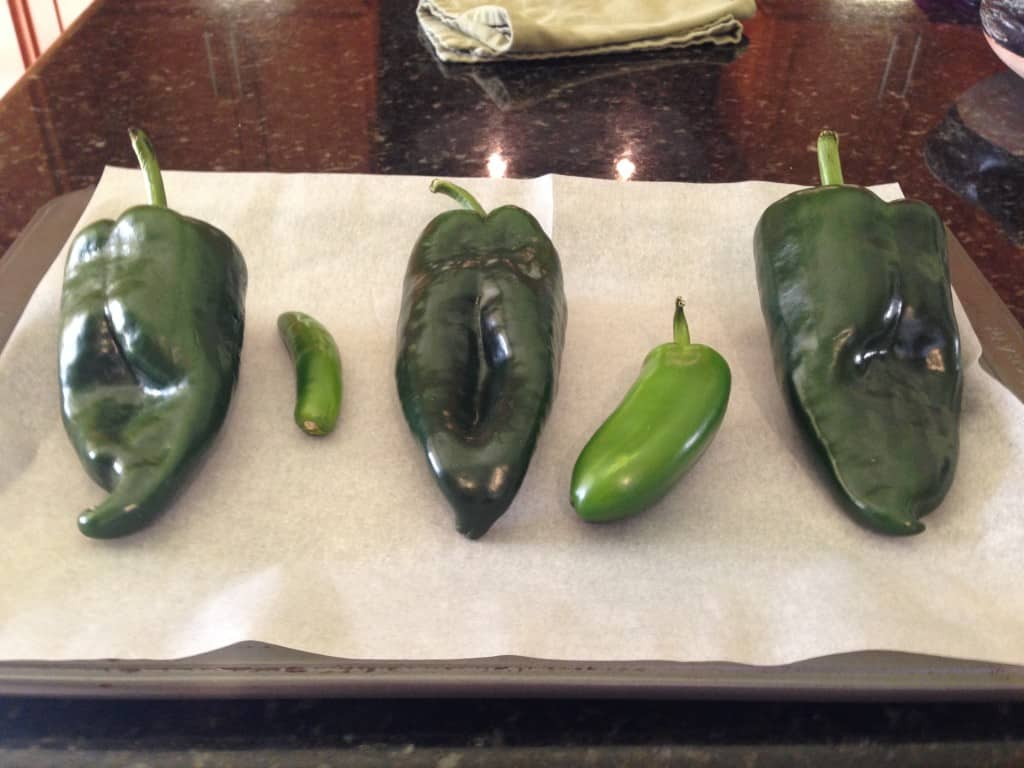 Peppers for Chile Verde.