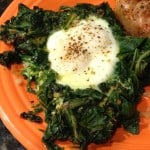Greens with Egg