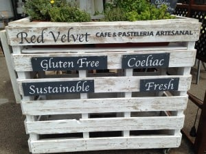 Red Velvet Cafe in Sitges, Spain