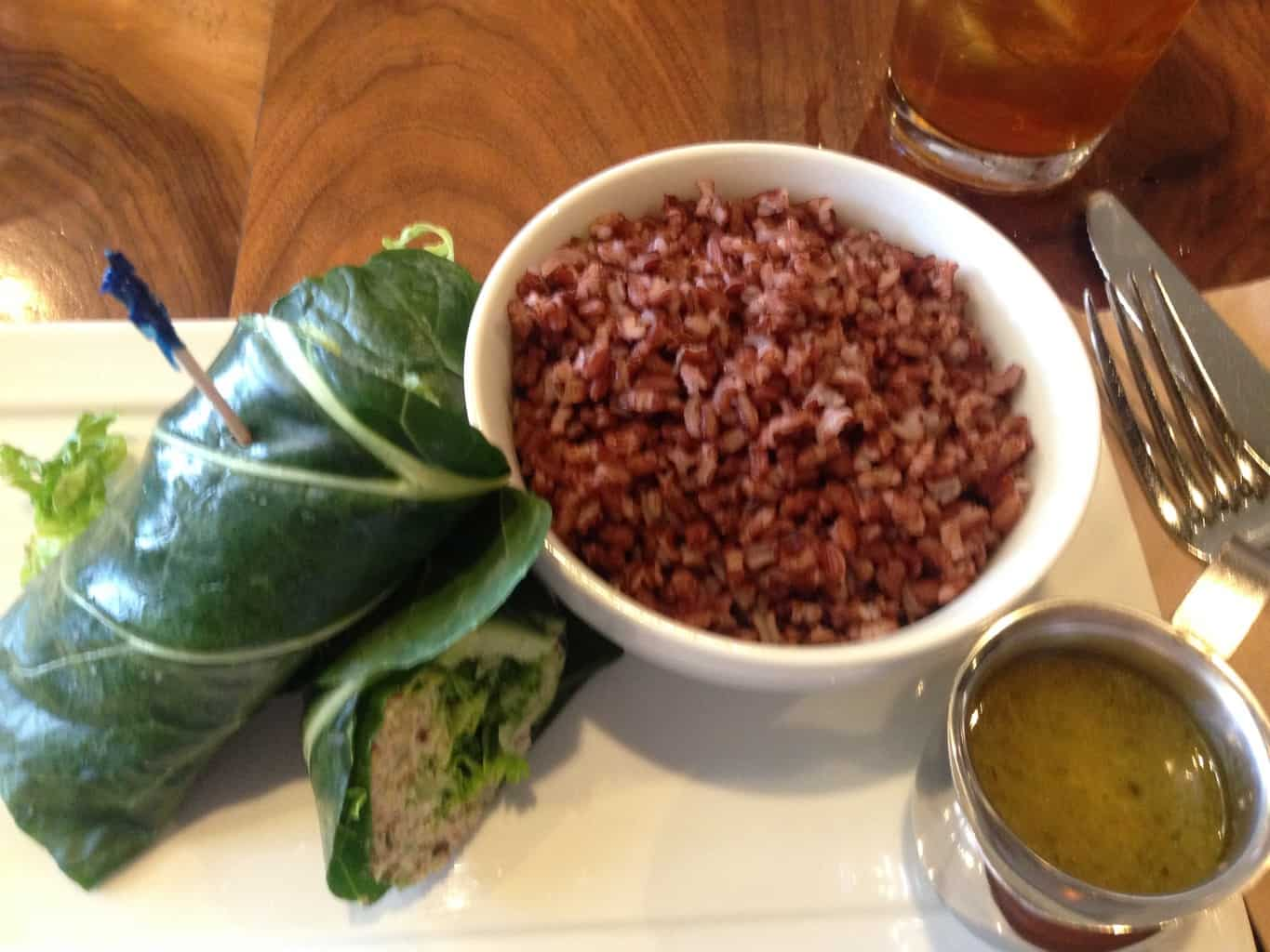 Collard Green Tuna Wrap