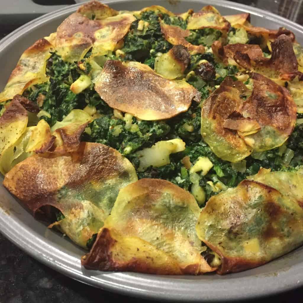 Gluten-Free Potato Crust Spanakopita